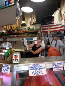 Dr. Murph in Seattle Pike Fish Marker